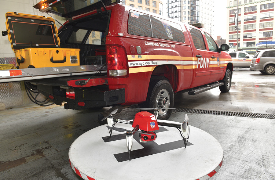 The FDNY's drones are deployed through its command tactical unit, which currently has eight FAA-certified Part 107 pilots.