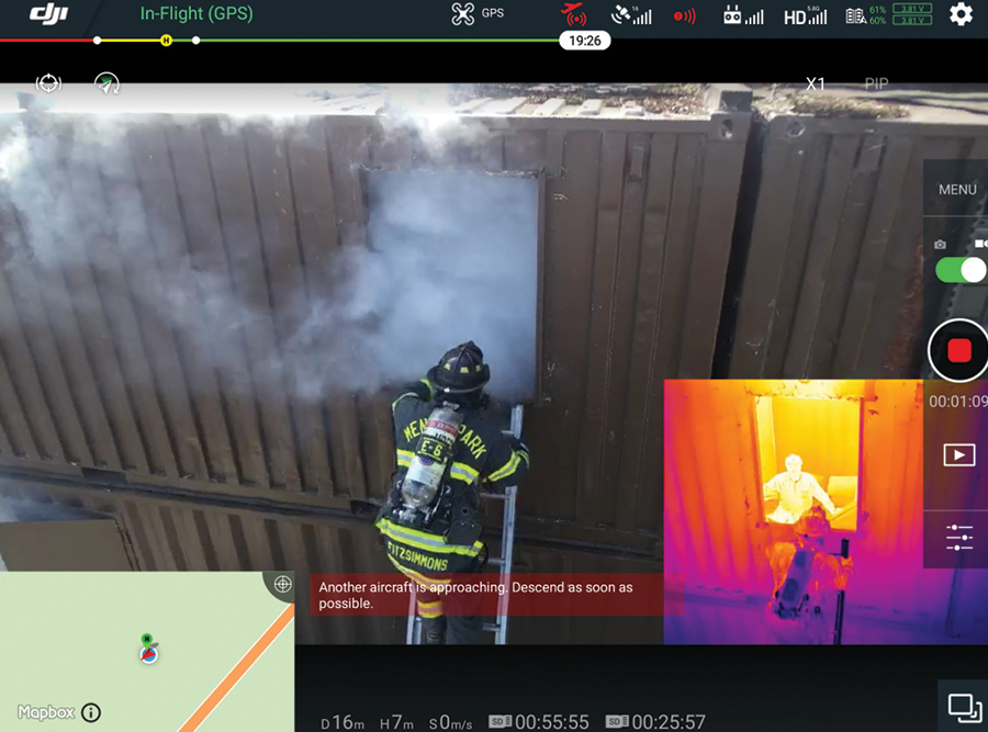 The Zenmuse XT2 camera carried by a DJI drone can show both regular view and infrared images at the same time. (Photos 6 and 7 courtesy of DJI.)