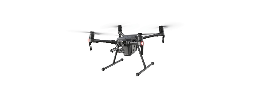 DJI's Matrice platform can be customized with a number of different sensors and payloads.