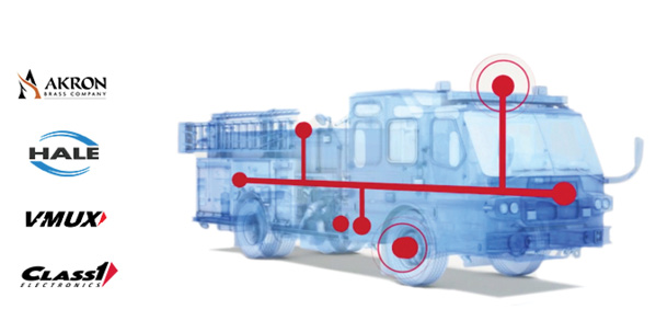 The Captium™ connected vehicle platform by IDEX Fire & Safety accesses all the electronics being used on an apparatus into a single platform. (Photo courtesy of IDEX Fire & Safety.)