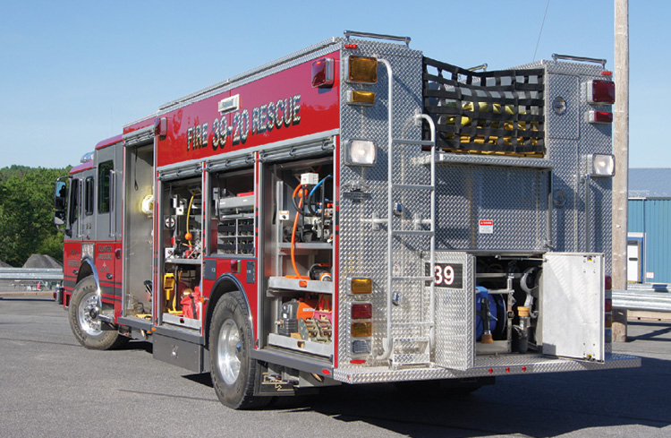 The Westerlo (NY) Fire Department has Hannay booster line and hydraulic hose rescue reels installed on this apparatus. (Photo courtesy of Hannay Reels and the Westerlo Fire Department.)