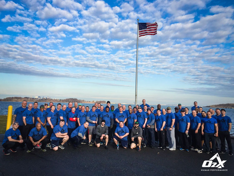 O2X trainers and firefighter participants