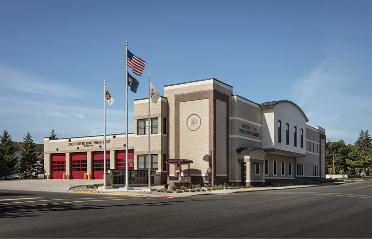 The Mitchell-designed station for South River is the work space for 70 volunteer firefighters.
