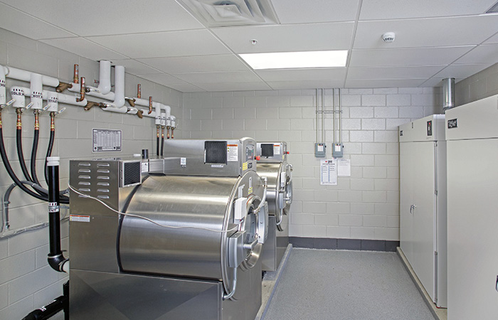 South River's fire headquarters station has two 105-pound-capacity washer/extractors that each can do six sets of turnout gear at a time and two dryers that each will handle six sets of turnouts.
