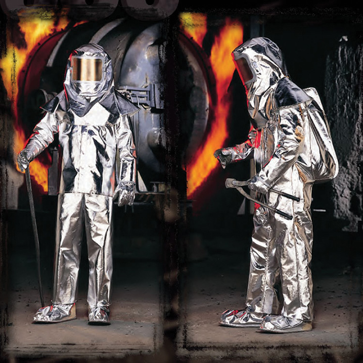 Lakeland Fire makes the 500 series Approach Suit made from high-temperature aluminized fiberglass with a moisture/steam barrier lining. (Photos 8-10 courtesy of Lakeland Fire.)