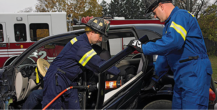 The 911 Series extrication suits made by Lakeland Fire use 10 percent FR cotton as an outer shell.