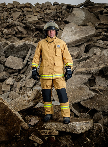 Veridian Tech Rescue Utility gear offers flexibility and freedom of movement along with reinforced elbows and knees.