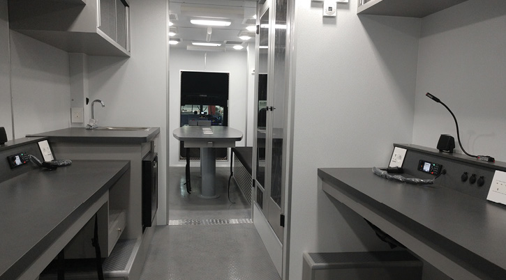 This is the interior layout of a command truck that E-ONE built for Tshwane, South Africa.