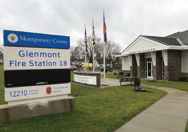 The entryway to Glenmont Station 18