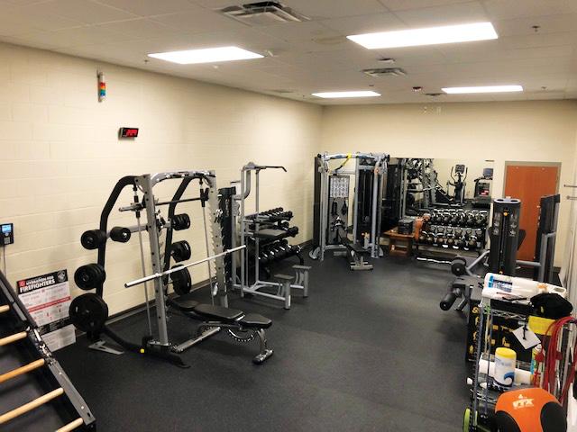 Glenmont Station 18's exercise room.