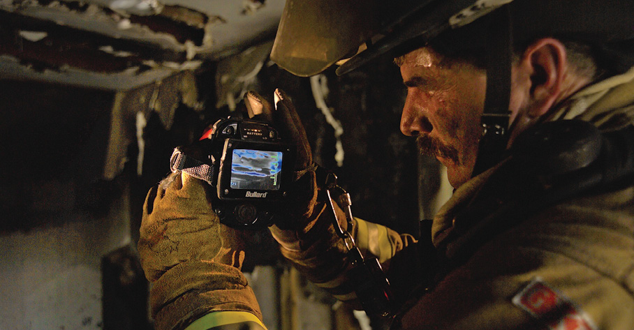 Always perform overhaul before leaving an incident, because you want to be certain to avoid rekindling. (Photo courtesy of Bullard.)