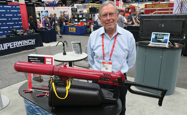 With the folding stock open and the inflatable sling projectile attached, the ResQmax measures 52 inches. Jim Fitzmaurice is the owner of ResQmax out of Redmond, Oregon.