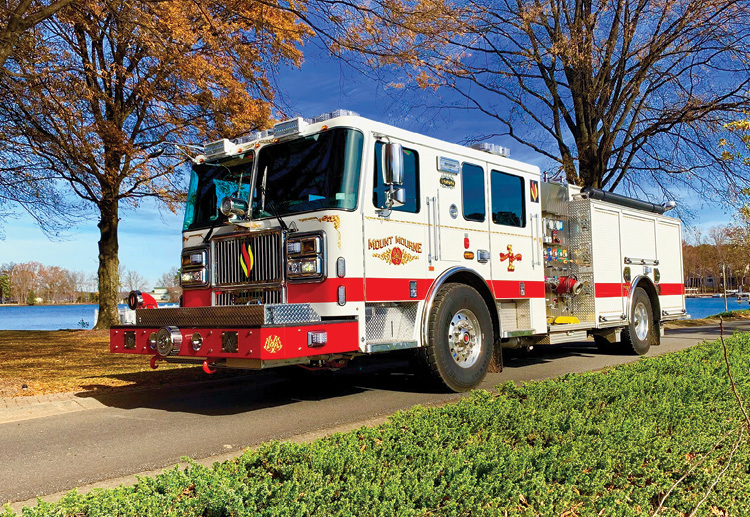 The Mt. Mourne Seagrave Marauder II pumper. It has a 2,000-gpm single-stage pump and 750-gallon water tank. [Photos courtesy of Joshua Beard, Mount Mourne (NC) Volunteer Fire Department.]