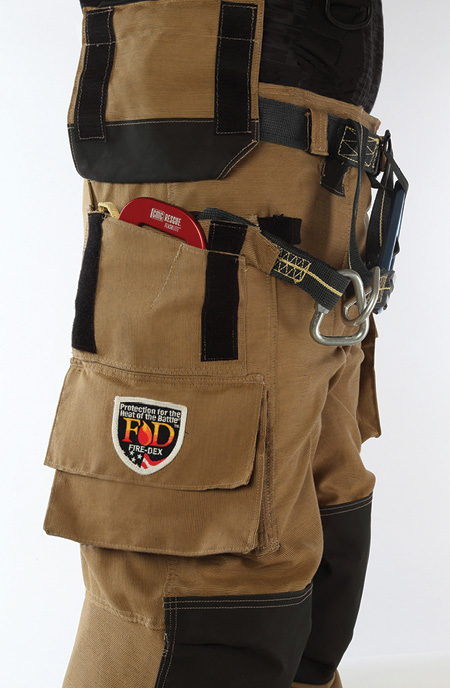 Fire-Dex offers a variety of specially designed pockets on the I2H pant, each made to house common personal escape systems.