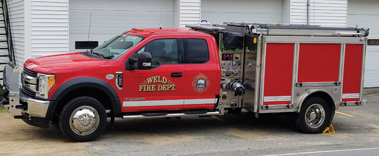 Weld (CO) Fire and Rescue had HME Ahrens-Fox build this MiniEVO pumper on a Ford F-550 chassis and two-door cab.