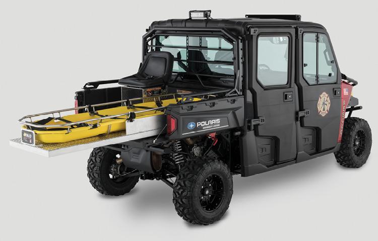 This Polaris Ranger 4x4 is a dedicated rescue/EMS unit.