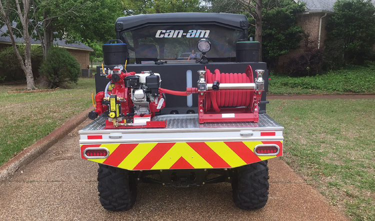This CET fire suppression unit is installed on a 4x4 UTV.