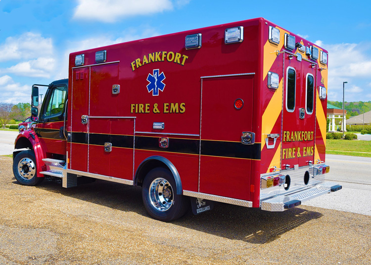 Excellance debuts a new ambulance for Frankfort Fire & EMS