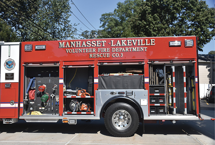 3Driver's side compartments carry saws, struts, air bags, and forcible entry and hand tools.