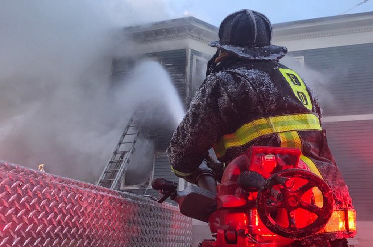 Six-Alarm Fire in Boston