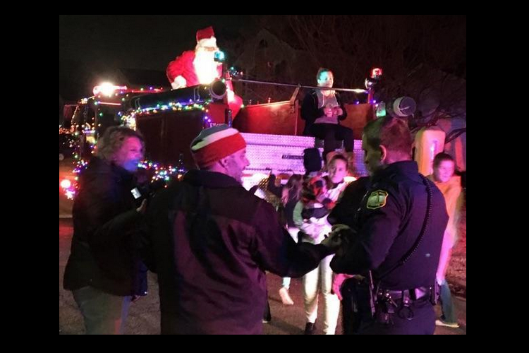 Virginia Police Pull Over Santa Fire Engine