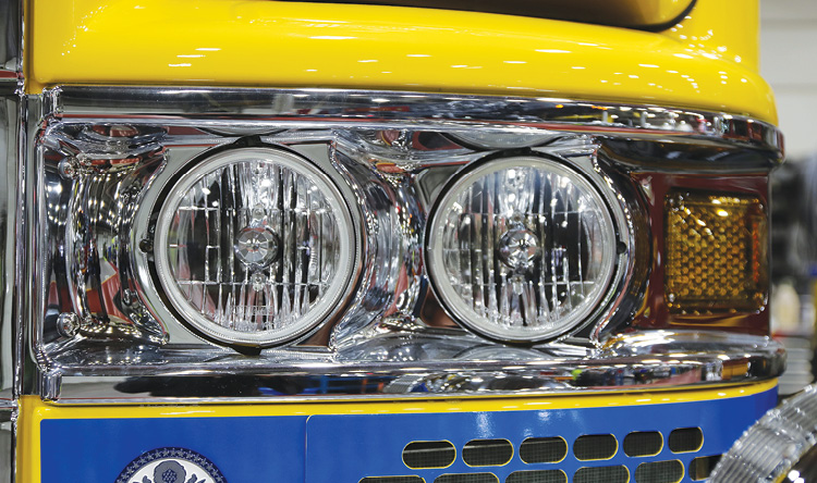 Photo 2 shows a round headlight installation also on a Pierce custom chassis. (Photos 1 and 2 courtesy of Pierce.)