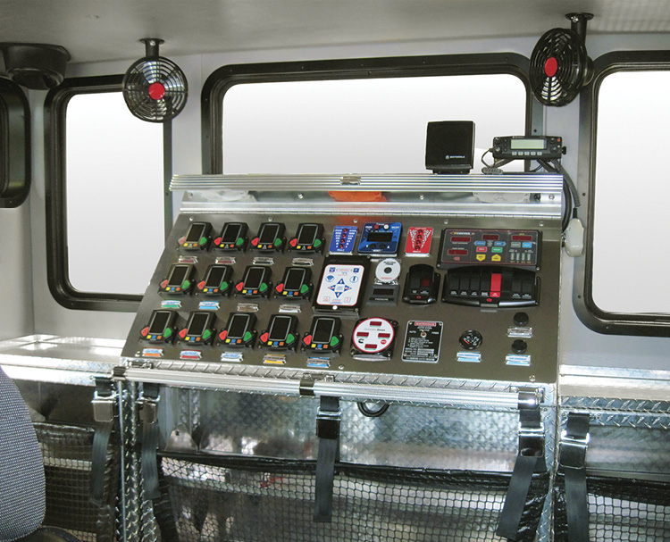 Rosenbauer's enclosed top-mount pump panels are popular with fire departments operating in cold-weather and hot-weather climates.