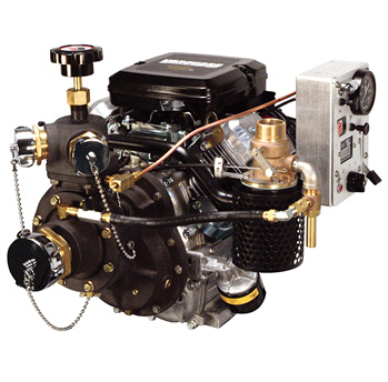 The Darley 1.5AGE medium-volume, medium-pressure portable pump develops a maximum flow of 180 gpm and a maximum pressure of 420 psi.