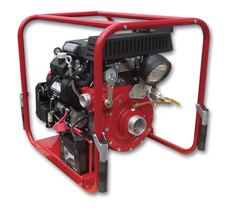 CET Manufacturing makes the PSP-20HP-HND-MR portable pump powered by a 20-hp GX630 Honda air-cooled, four-stroke gasoline engine and is often used on firefighting skids where it will produce 100 gpm at 150 psi. (Photos 7 and 8 courtesy of CET Manufacturing.)