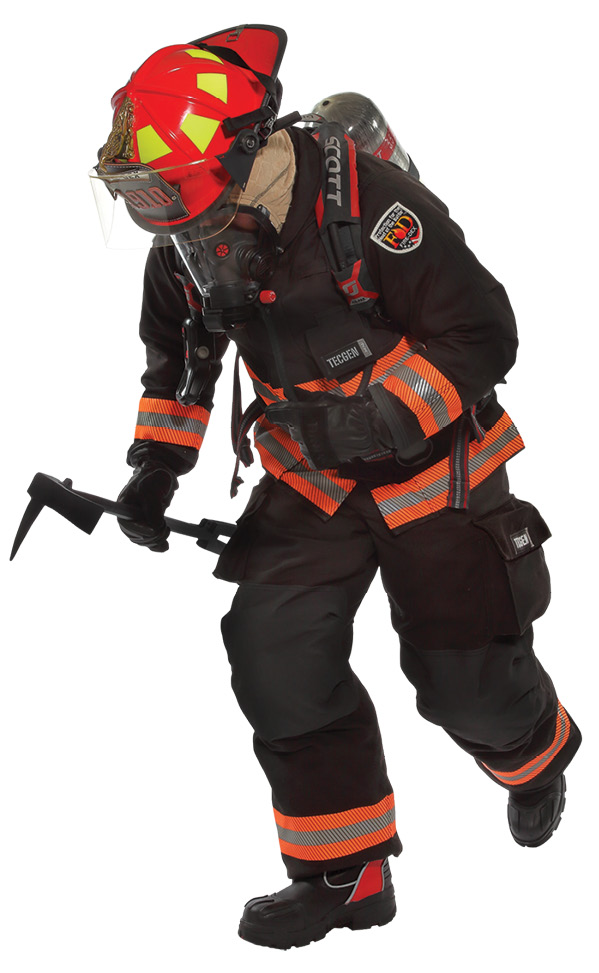 Fire-Dex is investigating ways to make turnout gear easier to clean and decontaminate through fabrics that wash off easier.