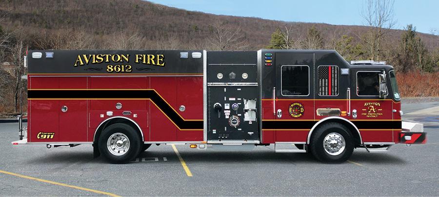 KME—Aviston (IL) Fire Protection District pumper.