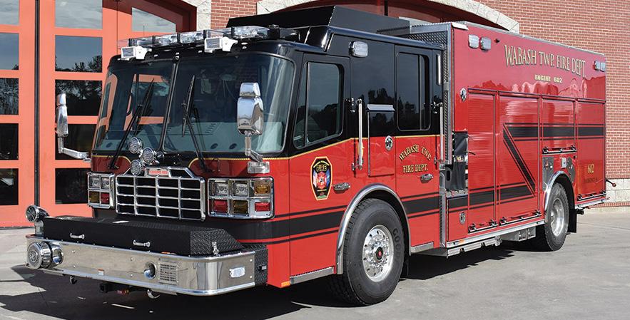 Ferrara—Wabash Township, West Lafayette, IN, MVP rescue-pumper.