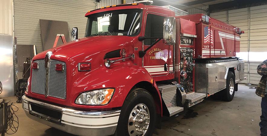 Fouts Bros.—Culberson Volunteer Fire Department, Murphy, NC, pumper-tanker.