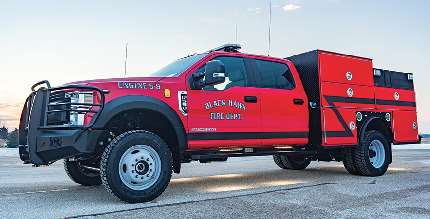 Spencer—Black Hawk (SD) Fire Department rescue. Ford F-550 4x4 cab and chassis;