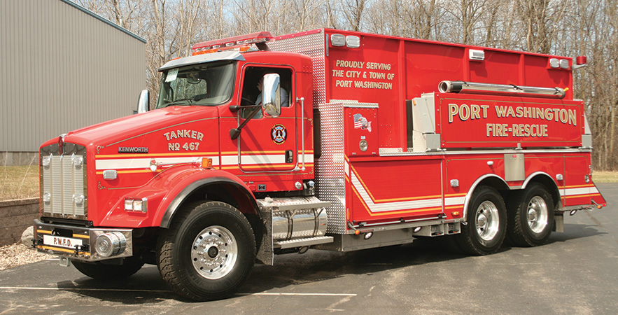 UST—Port Washington (WI) Fire Department pumper-tanker. Kenworth T800 cab and chassis;