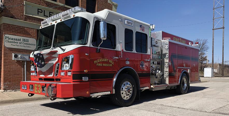 Feld Fire—Pleasant Hill (MO) Fire Protection District pumper.