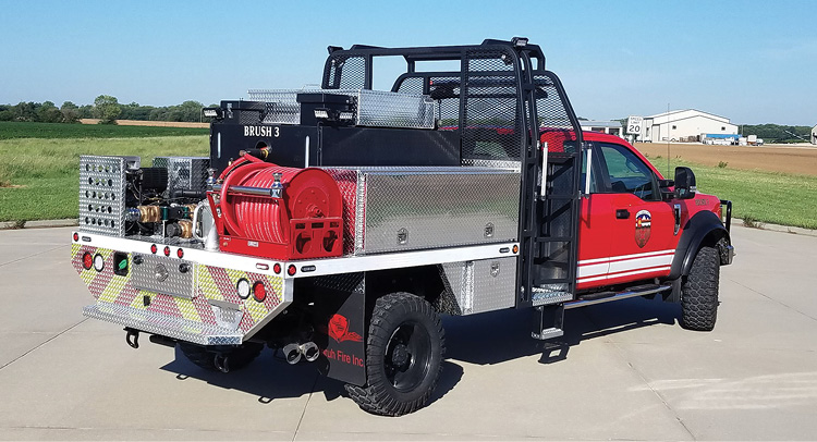 Unruh Fire installed a Darley Foam Flurry foam proportioning system on this Type 6 wildland pumper for the Pueblo (CO) Fire Department.