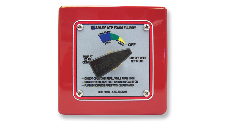 The control panel for Darley's Odin Division Foam Flurry around-the-pump foam proportioner.