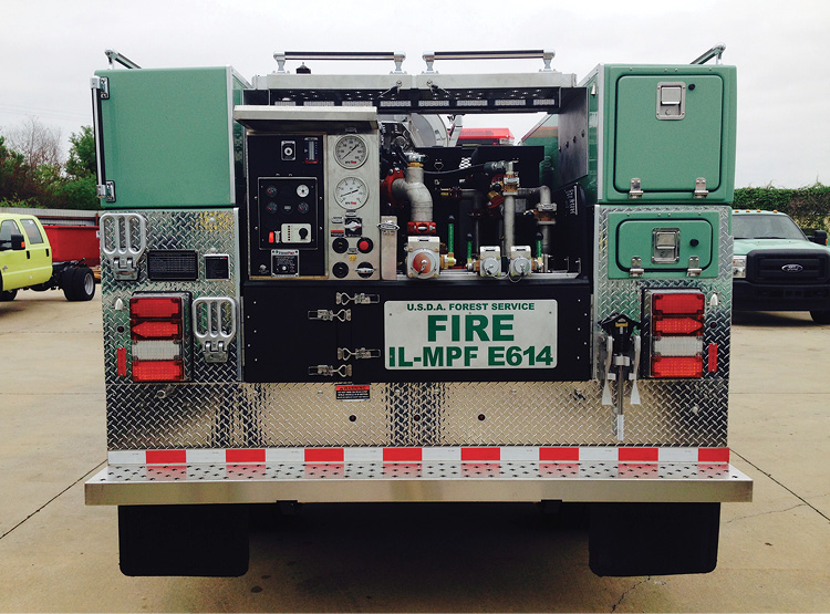 BFX Fire Apparatus installed a FoamPro 1601 foam system on this Type 6 wildland engine for the U.S. Forest Service.