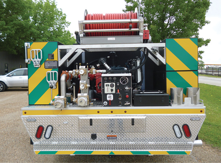 The Lone Camp (TX) Fire Department had BFX Fire Apparatus put a Waterous Fire Toll foam system on its Type 6 wildland pumper.