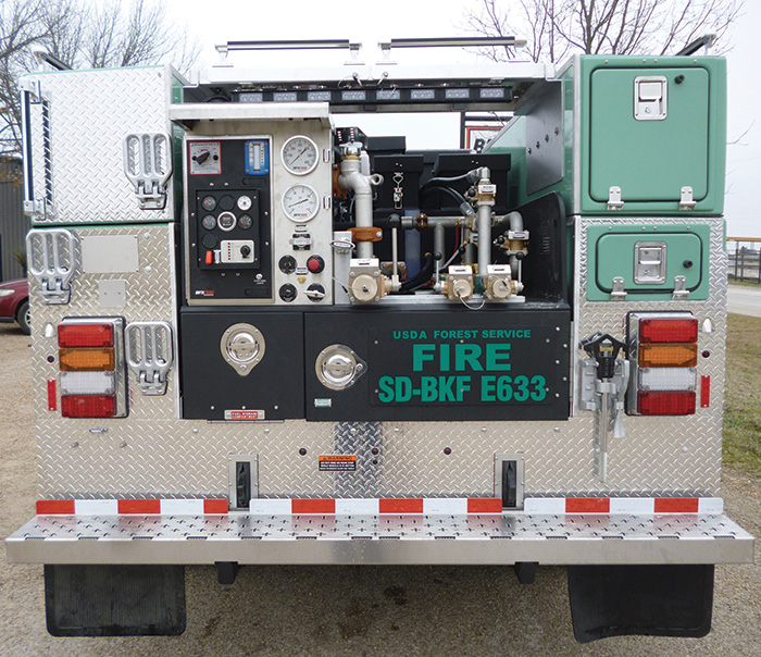 Darley's Fast Foam 150 foam proportioning system was used by BFX Fire Apparatus on this U.S. Forest Service Type 6 wildland pumper.
