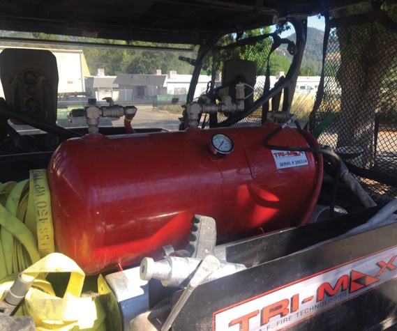 This TriMax 30 foam system is installed on a U.S. Forest Service utility terrain vehicle.