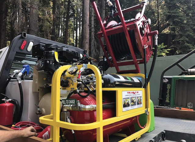 Kingsway Industries' TriMax 30 can be installed on a flatbed wildland pumper.
