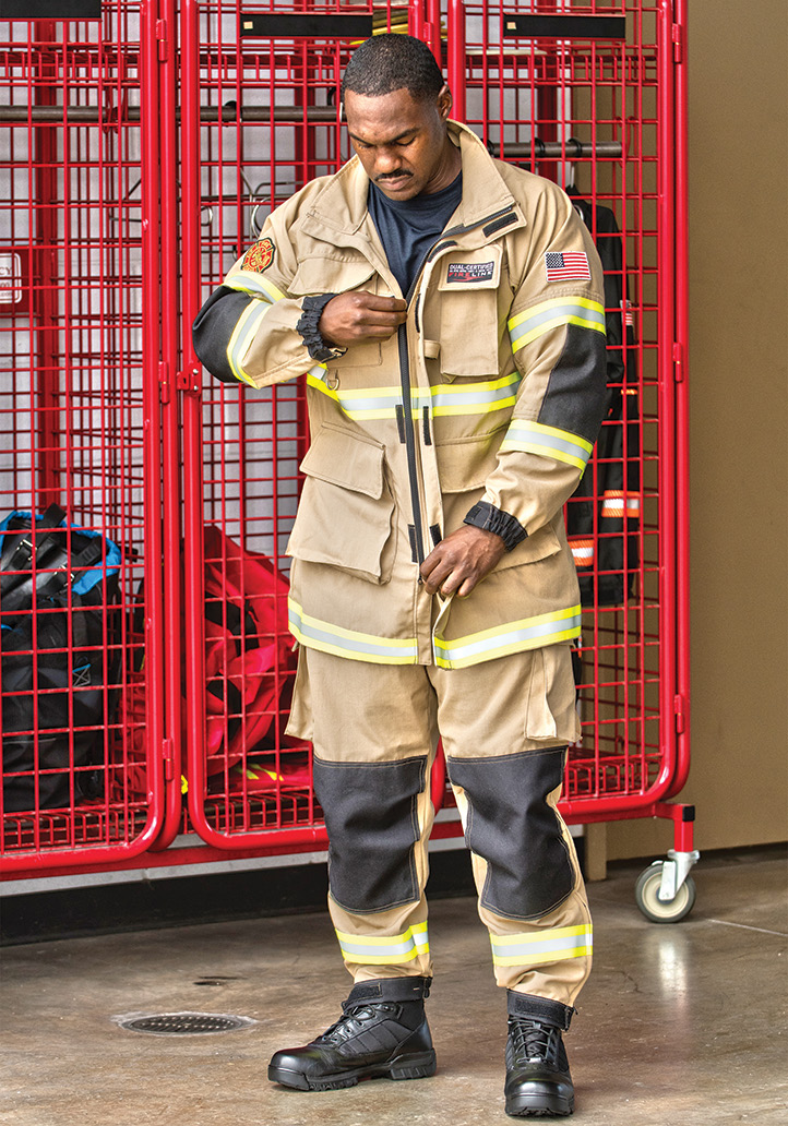 PGI Inc. makes the FireLine™ Multi Mission PPE that is designed to be lightweight and flexible and is compliant with both NFPA 1977 and NFPA 1951.