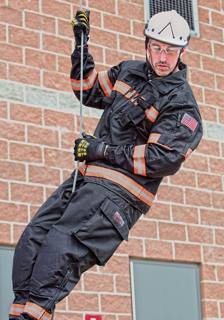 FireLine Multi Mission gear is shown in a technical rescue situation.
