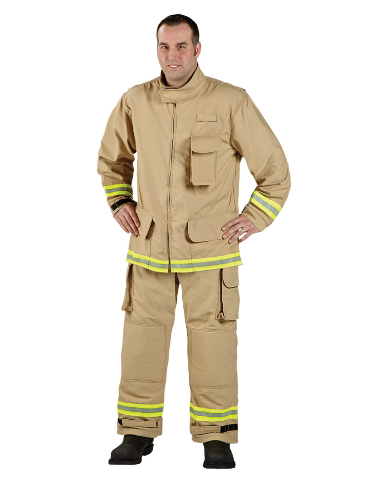 Lion makes VersaPro™ wildland turnout gear that is compliant with NFPA 1977 and NFPA 1951. VersaPro is made with a seven-ounce Sigma™ outer shell.