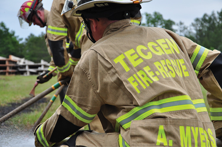 Fire-Dex makes TECGEN51 Fatigues turnout gear that are compliant with both NFPA 1977 and NFPA 1951. The coat and pant are made from the flame-resistant twill weave TECGEN51 fabric.