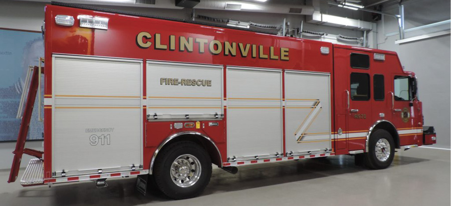 Clintonville's heavy rescue is built on a Spartan Gladiator cab and chassis.