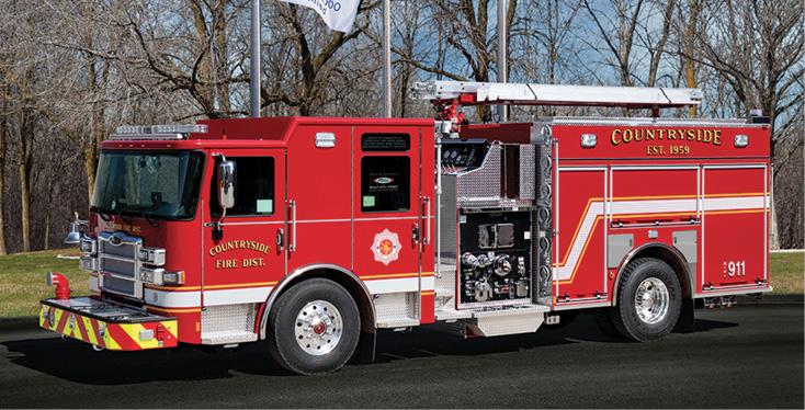 Pierce—Countryside Fire Protection District, Vernon Hills, IL, pumper.