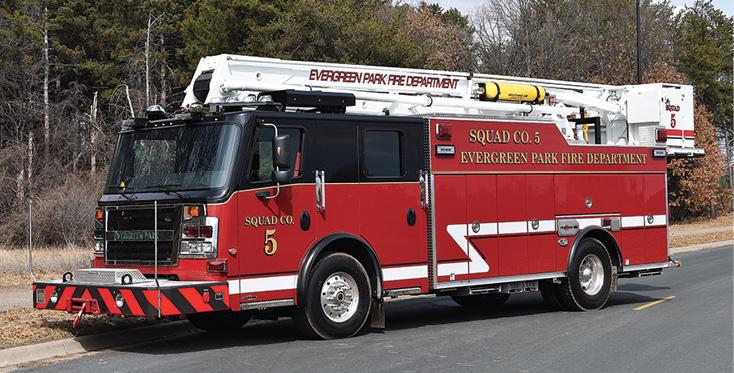 Rosenbauer—Evergreen Park (IL) Fire Department 55-foot aerial platform.